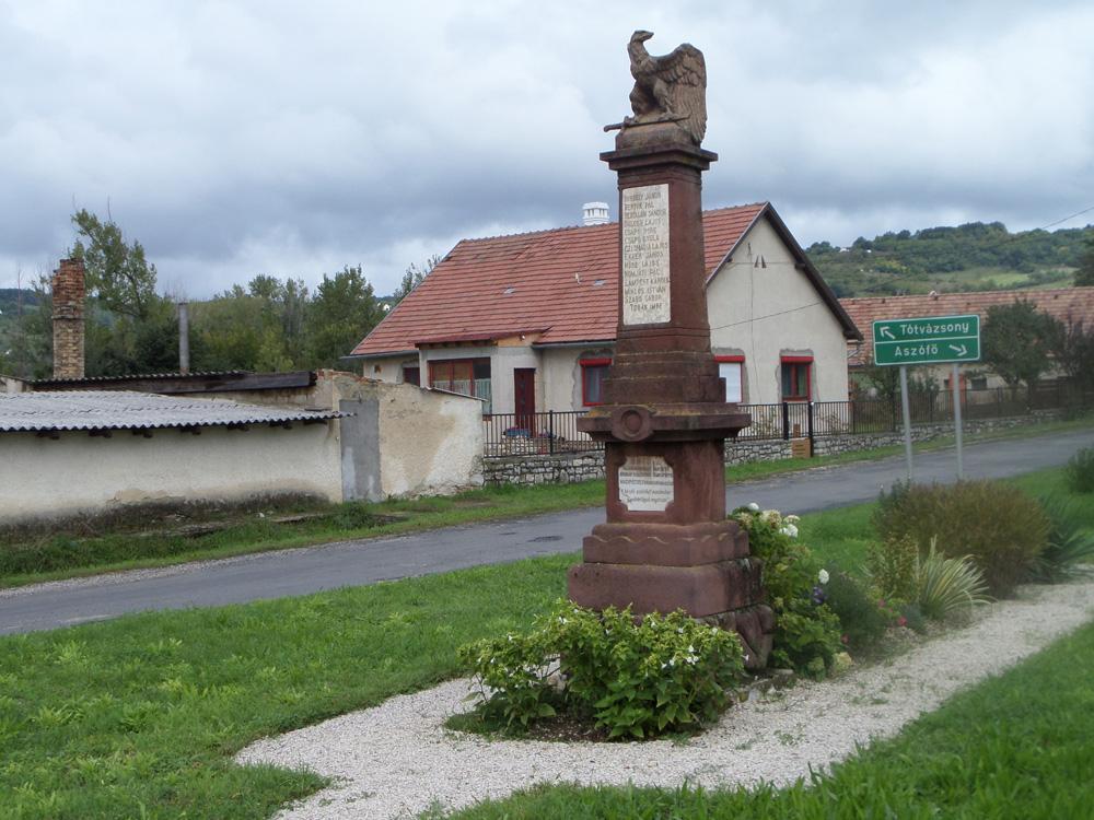 Pécsely egykori Nagypécsely I. világháborús emlékmű