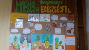 diákok alkotásai az egészségfalon